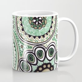 Green and Gold Rings Coffee Mug