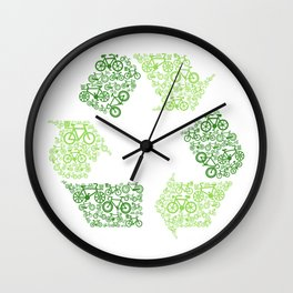 Recycling Artwork Logo Wall Clock
