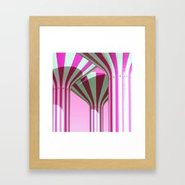 Pink Water Towers Framed Art Print