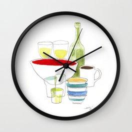 Bowls and Glasses Wall Clock