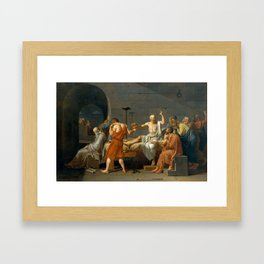 Jacques Louis David The Death of Socrates Framed Art Print