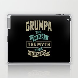 Grumpa The Myth The Legend Laptop & iPad Skin