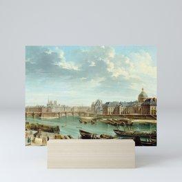 Nicolas-Jean-Baptiste Raguenet A View of Paris with the Île de la Cité Mini Art Print