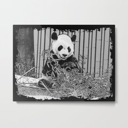 Panda Bear Cutie Metal Print