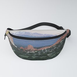 Sunrise at Garden of the Gods and Pikes Peak Fanny Pack
