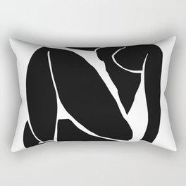 Matisse Cut Out Figure #3 Black Rectangular Pillow