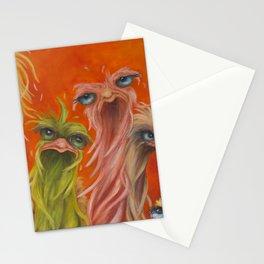 Group of Nine on Orange Stationery Cards