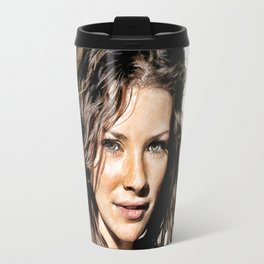 Kate from LOST (Evangeline Lilly) - Colored Pencil Work Travel Mug