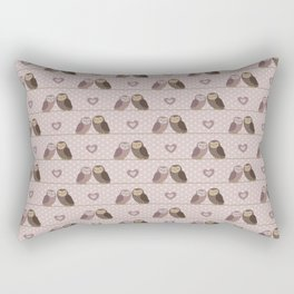 Owls in love (pink) Rectangular Pillow