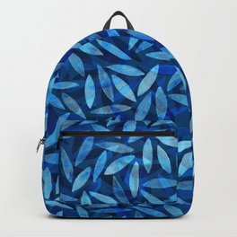Indigo Botanical Pattern Backpack