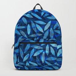 Indigo Botanical Pattern Backpack