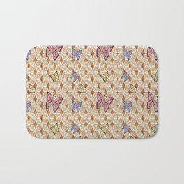 Butterfly Honeycombs Bath Mat