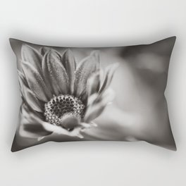 Flower in Black and White Rectangular Pillow