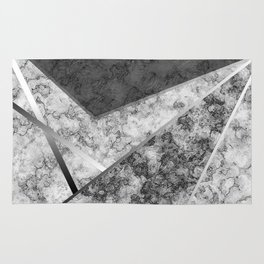 Combined abstract pattern in black and white . Rug