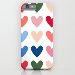Colourful Hearts - Christmas Palette iPhone Case