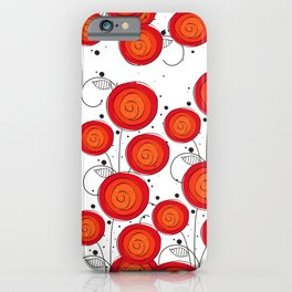 Layla Poppies iPhone Case