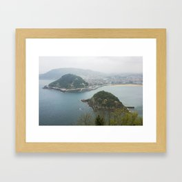 La Concha Beach, San Sebastian - Donostia-San, Spain II Framed Art Print