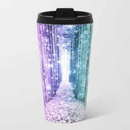 Magical Forest Lavender Aqua Teal Ombre Travel Mug