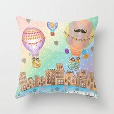 I {❤} Hot Air Balloon Throw Pillow
