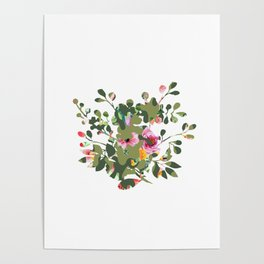 Floral camouflage Poster