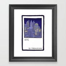 NEW YORK Card Framed Art Print