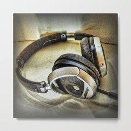 Headphones Metal Print