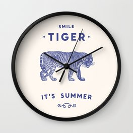 Smile Tiger, it's Summer Wall Clock