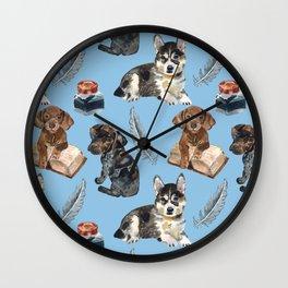 School of dogs Wall Clock