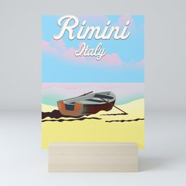 Rimini Italy beach poster Mini Art Print