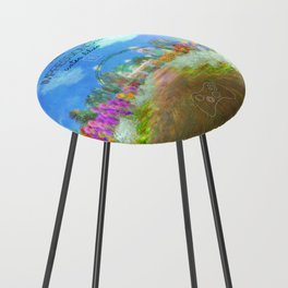 IMPRESSIONISTa Water Lilies Counter Stool