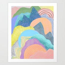 Modern Landscapes and Patterns Art Print