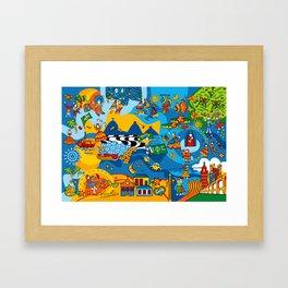 Mix Brazil Framed Art Print