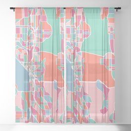 Seattle City Map Sheer Curtain