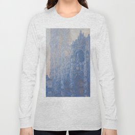 1894-Claude Monet-Rouen Cathedral Façade and Tour d'Albane (Morning Effect)-74 x 106 Long Sleeve T-shirt