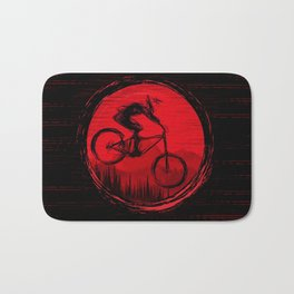 Red Moon Bike Bath Mat