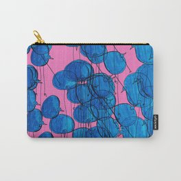 Blue Birds in Pink Carry-All Pouch