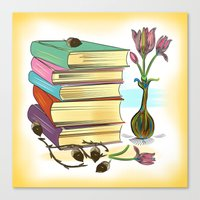 books Canvas Prints featuring Books by famenxt
