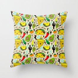 Kawaii Fiesta Throw Pillow