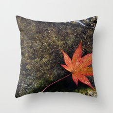 Japanese Maple Leaf 1 Throw Pillow