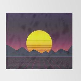 Vaporwave\\Mountain Throw Blanket