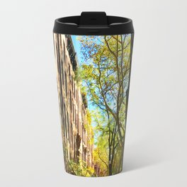 Cobble Hill Brooklyn New York in the Fall, Brownstones Travel Mug