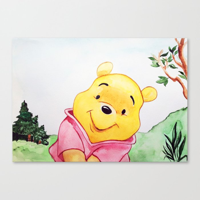 9daa56489 Winnie the Pooh, watercolor Canvas Print by lubaost | Society6