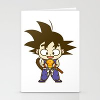 dragonball Stationery Cards featuring Young Goku with dragonball by Samtronika