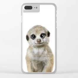 Meercat baby animal Clear iPhone Case