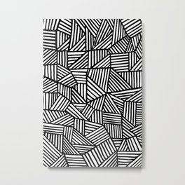 Black Brushstrokes Metal Print
