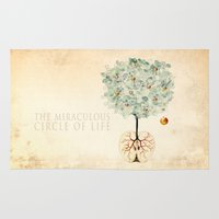tree of life Area & Throw Rugs featuring Life Tree by Paula Belle Flores