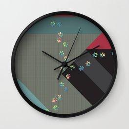 Magical Pet Tracks Wall Clock