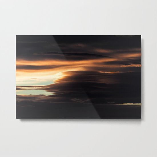 Clouds Over Iceland Metal Print