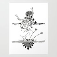 pocahontas Art Prints featuring Pocahontas by Hannah de Lisle