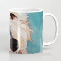 floyd Mugs featuring Our Dog Floyd by Barking Dog Creations Studio